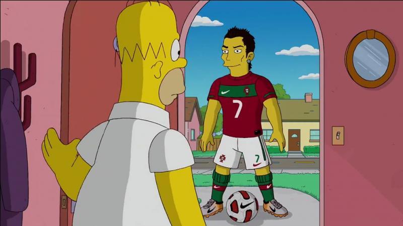 Qui est ce joueur de foot caricaturé dans les Simpson ?