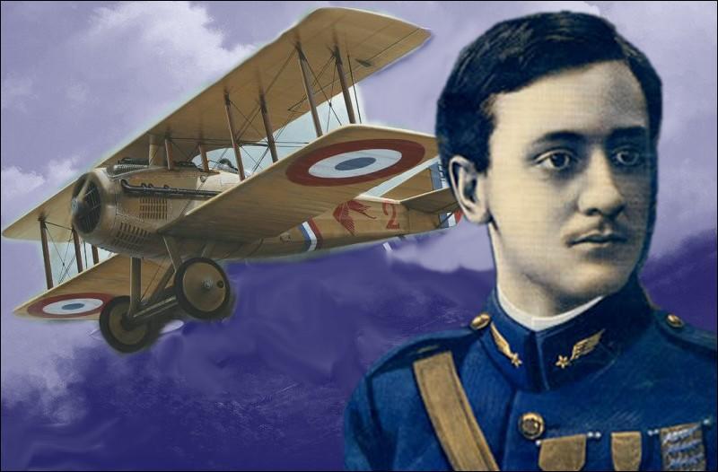 Georges Guynemer, As de l'aviation française mort au combat en 1917 fut affecté durant toute sa carrière à l'Escadrille N.3 dite ...
