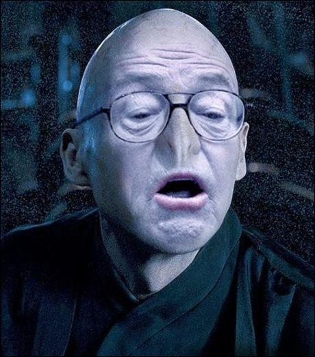 Observez bien l'image présentée. Qui s'est glissé dans la peau de Lord Voldemort ?