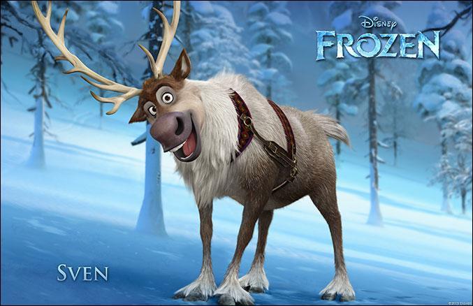 Voilà Sven le renne, qui est son fidèle ami ?