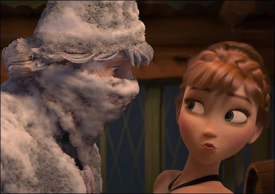 Alors qu'elle se lance à la poursuite d'Elsa, Anna rencontre un montagnard. Comment s'appelle-t-il ?