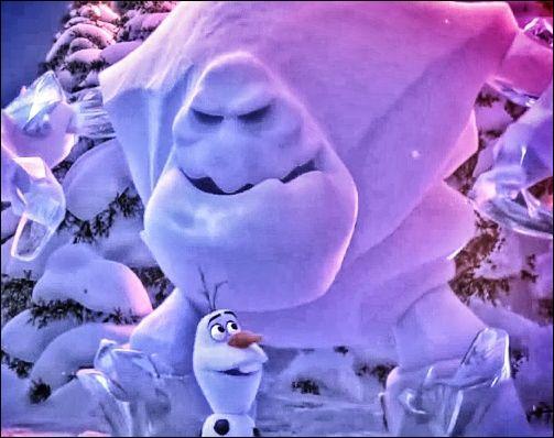 Comment Olaf surnomme-t-il le monstre de neige qu'Elsa a créé ?