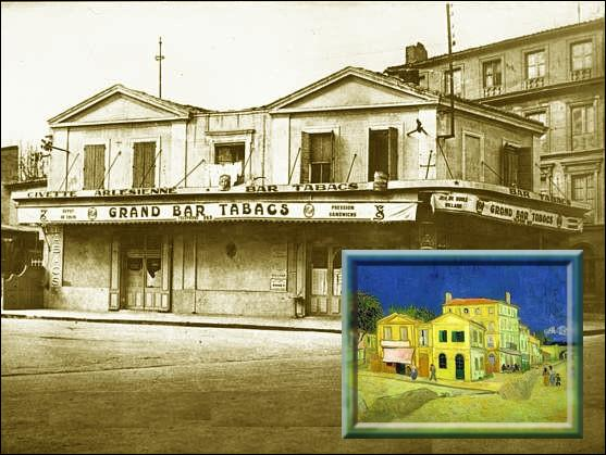 Située à Arles, c'est dans cette maison que s'installa Van Gogh en 1888. Il voulait en faire un lieu d'accueil dans le midi, pour ses amis artistes peintres.