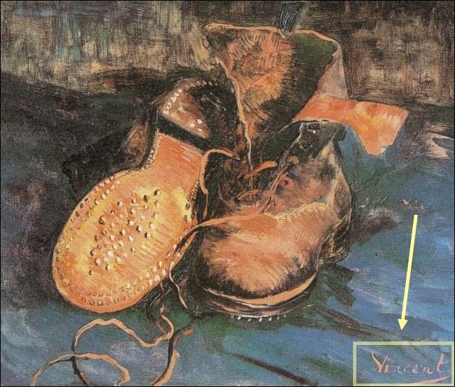 Van Gogh a signé ses dessins et peintures de son prénom Vincent, jugeant que son patronyme était souvent mal prononcé.