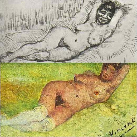 Vincent Van Gogh a peint très peu de nus, n'ayant pas les moyens se se payer des modèles.