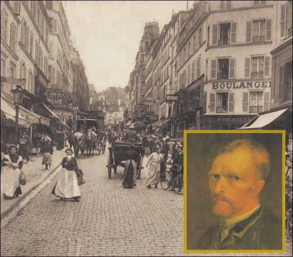 C'est au 54, rue Lepic à Montmartre, au premier étage, que Vincent habita avec son frère Théo de 1886 à 1888.