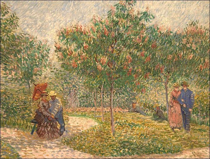Pendant cette période parisienne, il peint sur les conseils de Camille Pissarro et avec lui, plusieurs scènes au parc Voyer d'Argenson à Asnières.