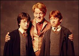 Encore ce pimpant Gilderoy, qui semble ici vouloir aussi séduire les copains Ron et Harry, lesquels ont une bouille de circonstance, on les comprend. Quelle est l'arme absolue de séduction de Gildy ?