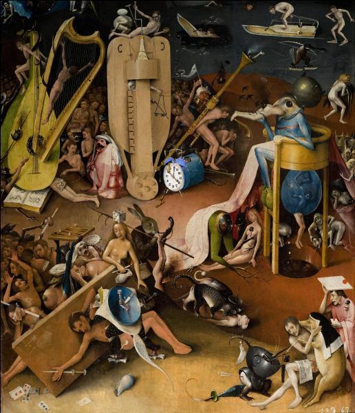 Décidément, ce tableau de Jérôme Bosch (v. 1450-1516) est toujours aussi intrigant... Un anachronisme s'est glissé dedans !