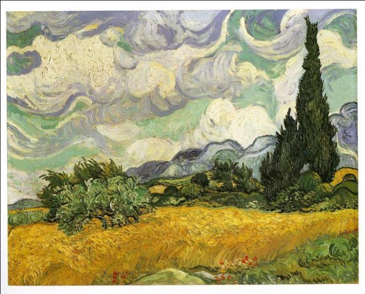 Qui a peint Champ de blé aux cyprés ?