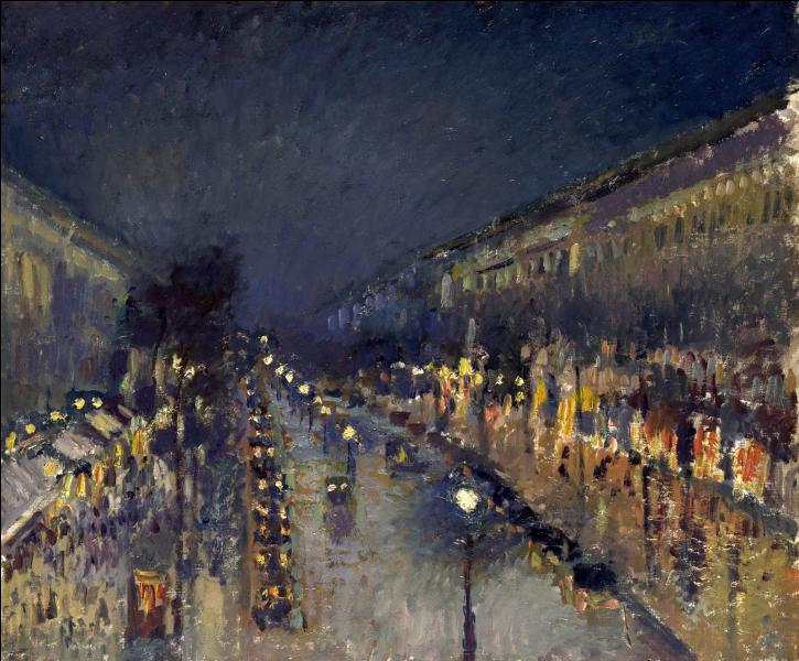 Qui a peint Boulevard Montmartre effet de nuit ?