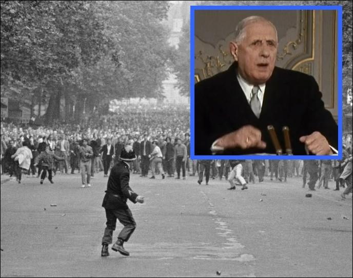 En mai 68, au retour de son voyage à Baden-Baden, qu'annonce le Général De Gaulle à la radio le 30 mai ?