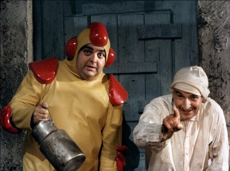 Voici une image du film  La soupe aux choux , on y voit De Funès et Villeret, mais qui est le troisième laron ?