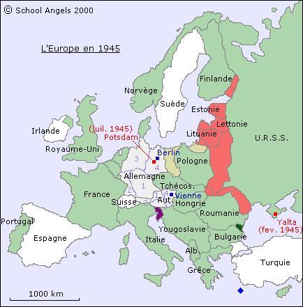 Quels sont les États totalitaires en 1939 en Europe ?