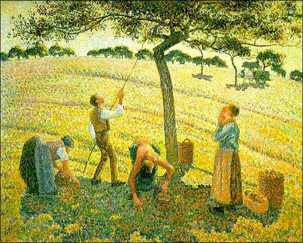 Quel peintre a réalisé  La cueillette des pommes  ?