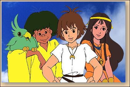 De quelle série animée proviennent ces trois enfants ?