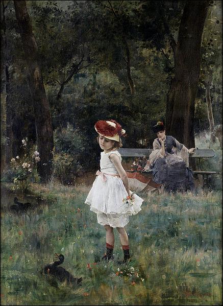 Qui a peint La fillette aux canards ?