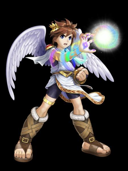 Dans Kid Icarus : Ce jeune homme est un ange au service de la déesse Palutena, il se bat avec diverses armes (bouclier, arc... ). Qui est-ce ?