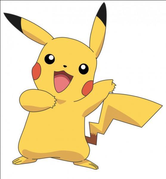 Il est jaune, il produit des éclairs, il joue dans les pokémons et il est le pokémon favori de Sacha. Qui est-ce ?