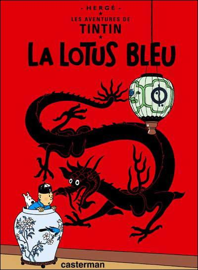 1936, Front populaire. Chouette ! Les petits Français vont pouvoir lire  Le Lotus bleu  pendant les congés payés de leurs parents : deux ans qu'ils attendent la suite du précédent ! (Même pas utile de cliquer pour voir les erreurs ... )