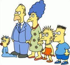 Photo des amis et de la famille Simpson
