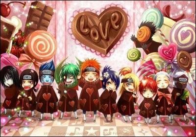 A la Saint-Valentin, qui des membres de l'Akatsuki est le plus gourmand ?