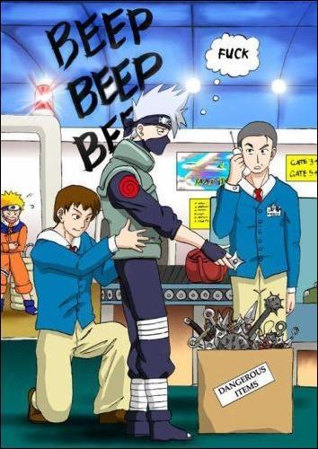 Pourquoi Kakashi a-t-il été intercepté à l'aéroport ?