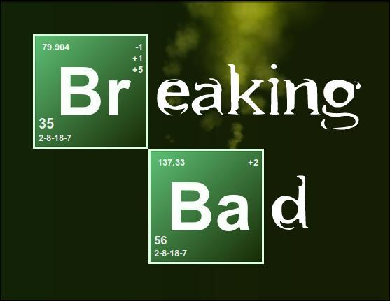 À quel élément correspond le Ba, que l'on trouve dans le logo de Breaking Bad ?