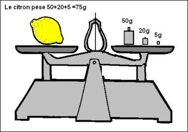 Une balance permet de mesurer ... d'un corps.