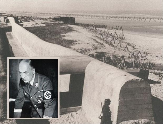 Qui était à l'origine, à la tête de l'organisation chargée de la construction des fortifications côtières du  Mur de l'Atlantique  ?