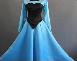 Cette robe à corselet de velours bleue et à jupe évasée bleue est celle de... ?