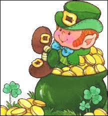 Comment se nomme le petit lutin irlandais avec son chaudron d'or ?