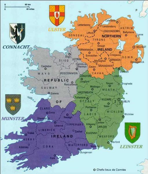 Quel animal symbolise l'Irlande ?