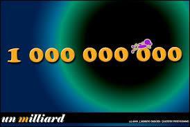 Comment dit-on un milliard en anglais ?