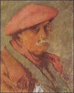 Autoportrait au béret rouge.