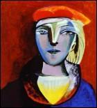Portrait de femme au béret.