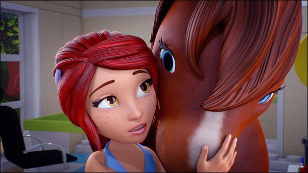 Comment se nomme le cheval de Mia ?