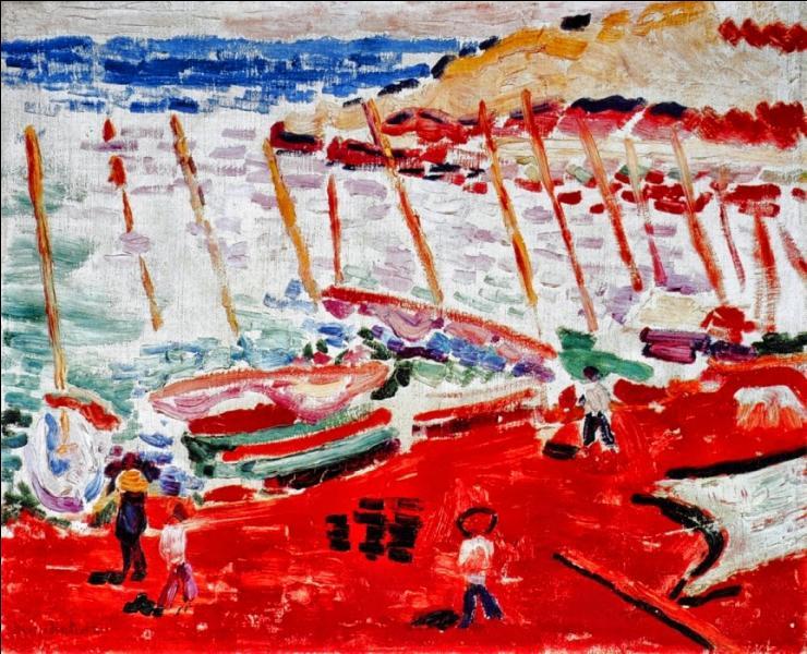 Qui a peint La plage rouge à Collioure ?