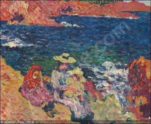 Qui a peint Femme au bord de la mer ?