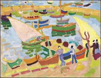 Qui a peint Voiliers et barques dans le port ?