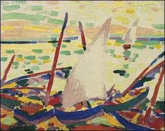 Qui a peint Bateaux sur la plage à Collioure ?