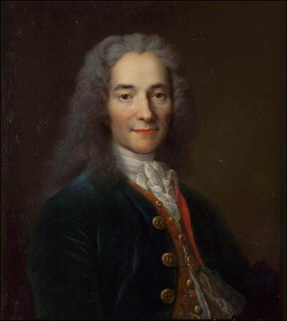 Ce portrait de Voltaire est l'oeuvre d'un peintre baroque, aussi à l'aise dans la peinture de portraits que dans celle de natures mortes , de scènes historiques ou de paysages. Qui est-t-il ?