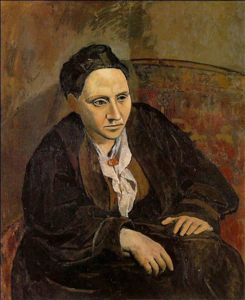 Gertrude Stein, poètesse, dramaturge et féministe américaine, ayant passé la majeure partie se sa vie en France, joua un grand rôle dans le développement de la littérature et de l'art moderne. Quel grand peintre, qui l'admirait, l'a représentée en 1906 ?