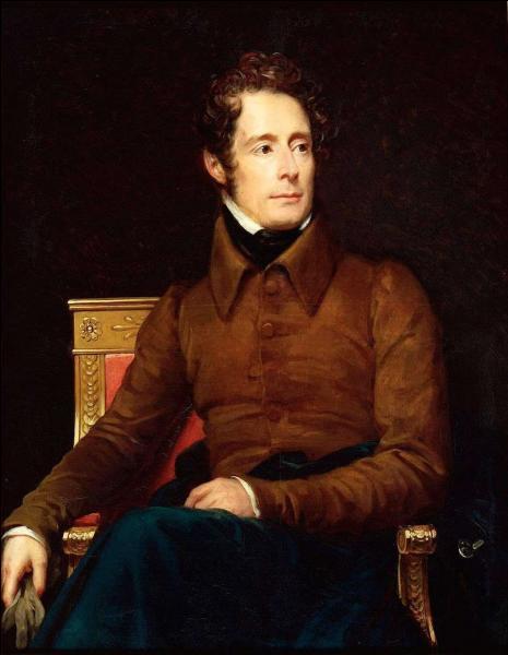Quel peintre d'histoire et portraitiste, élève de David, qui fut l'un des principaux peintres du premier Empire et de la Restauration, peintre de cour de Napoléon Ier, a exécuté ce portrait d'Alphonse de Lamartine en 1861 ?