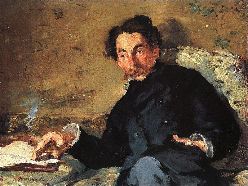 Qui est l'auteur de ce portrait de Stéphane Mallarmé, peint en 1876, année de publication de  L'après-midi d'un faune , long poème illustré de gravures de ce même peintre ?