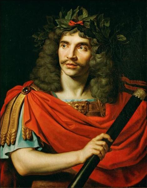 Quel peintre baroque du 17e siècle, également graveur, a réalisé ce portrait de Molière en Jules César ?