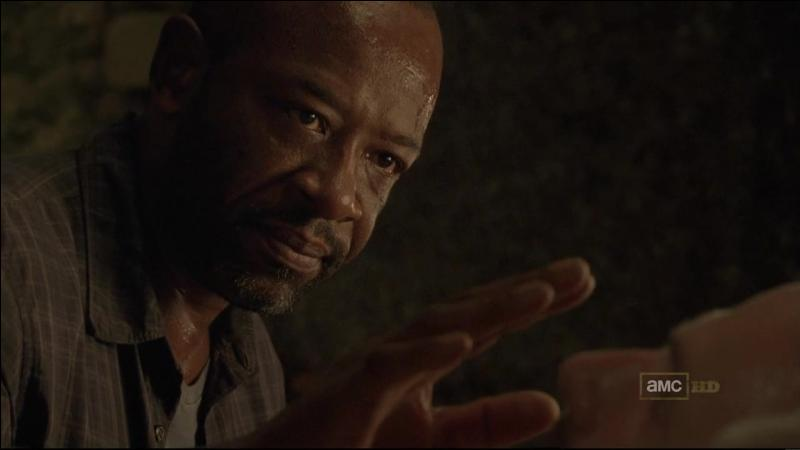 EP1. Rick est sauvé par Morgan et Duane Jones. Quand Morgan décrit une transformation, que dit Duane ?