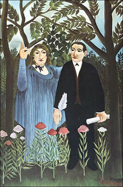Dans cette toile, intitulée 'La muse inspire le poète', de quel poète est-il question ?