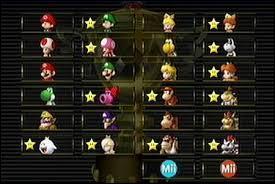 Pourquoi y a-t-il une étoile devant la moitié des personnages ?