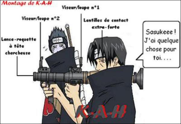Avec quoi Itachi a-t-il l'intention de tuer Sasuke ?
